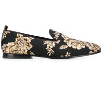 flat jacquard loafers