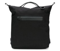 top handle zip pocket backpack