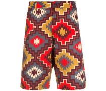 Shorts mit Azteken-Print