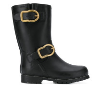 classic double-buckle boots
