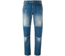 Boyfriend-Jeans mit Einsätzen