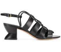 Slingback-Sandalen mit hohem Absatz