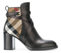 House Check ankle boots