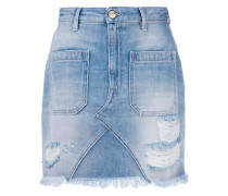 Jeans-Minirock in Distressed-Optik