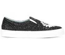 Slip-On-Sneakers mit Glitzer