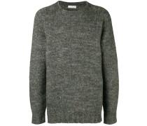 Melierter Oversized-Pullover