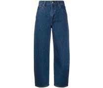Balloon-leg high-rise jeans