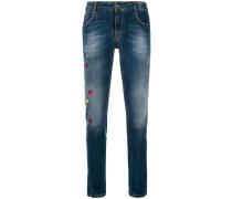floral embellished jeans