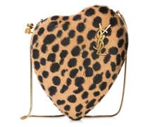 'Love Box' Clutch mit Leopardenprint