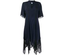 Asymmetrisches Kleid mit Spitze