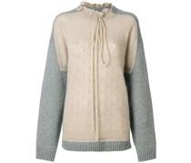 Pullover mit Trompe d'oeil-Print