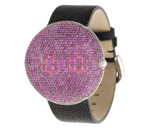 'Clou' Armbanduhr mit Smaragd