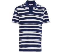 Gestreiftes Frottee-Poloshirt