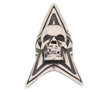 'Skull Star' Ring aus Silber