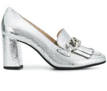 chunky heel chain pumps