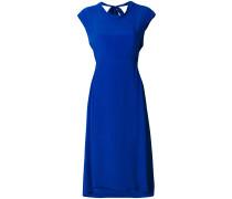 asymmetric cowl neck midi dress