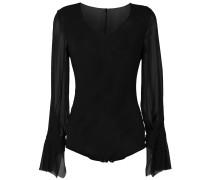 sheer sleeve Baroque bodysuit