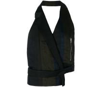 backless asymmetric waistcoat