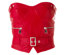 belted bustier top