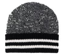Mütze mit gestreiftem Bund