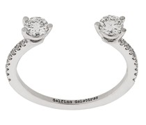18kt white gold Dots Diamond Pave ring