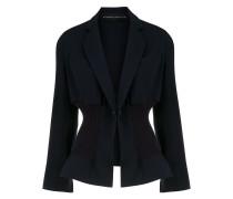 fitted waist blazer