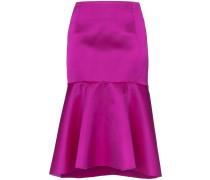 high-waisted flared midi skirt