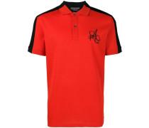 Poloshirt mit gestreiften Ärmeln
