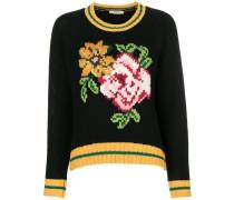 floral intarsia jumper