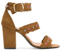 Sandalen aus Leder und Wildleder