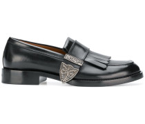 buckled fringe loafers