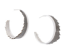 Flare hoop earrings
