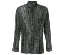 striped pleated shirt
