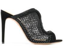 Stiletto-Sandalen in Netzoptik
