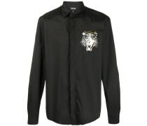 Hemd mit Tigerstickerei