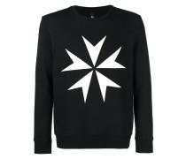 Sweatshirt mit Kreuz-Print