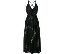 sequinned criss cross back dress