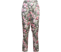 poppy printed tailored trousers