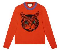 Pullover aus Wollstrick