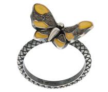 Silberring im Schmetterling-Design