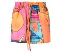 Shorts mit Strand-Print