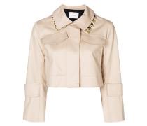 cropped embellished collar jacket