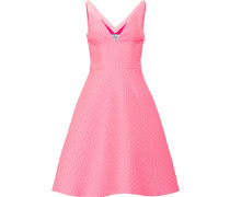 textured sleeveless dress