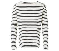 striped boat neck jersey
