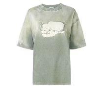 T-Shirt mit Nashorn-Print