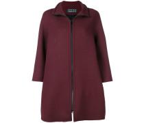 zip-up flared jacket