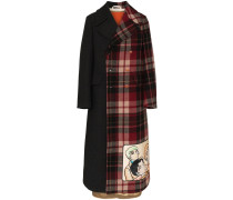 double breasted manga wool coat