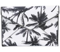 Clutch mit Palmen-Print - women - Leder