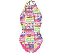 Badeanzug mit Kaugummi-Print