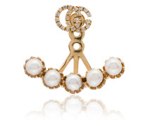 Vergoldeter Ear Cuff mit Diamanten